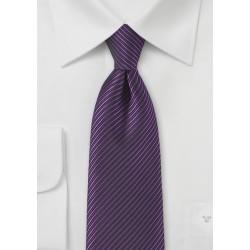 Striped Tie in Grape Purple and Black