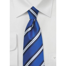 XL Repp Stripe Tie in Horizon