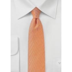 Solid Linen Tie in Nectarine