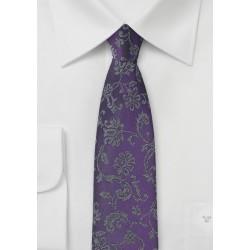Indigo Purple Floral Tie
