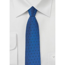 Royal and Navy Skinny Designer Tie
