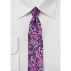 Pink and Purple Floral Tie