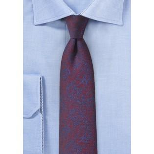 Vintage Floral Tie in Burgundy and Purple