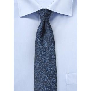 Designer Paisley Tie in Blue
