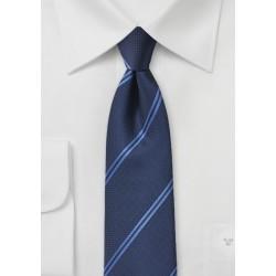 Modern Double Striped Tie in Blue