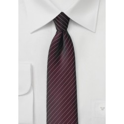 Fig Colored Pin Stripe Necktie