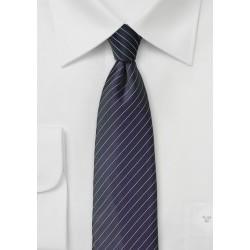 Pin Stripe Tie in Dark BlackBerry