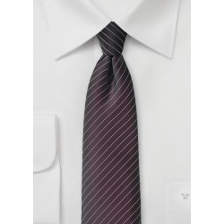 Espresso Brown Pin Striped Tie
