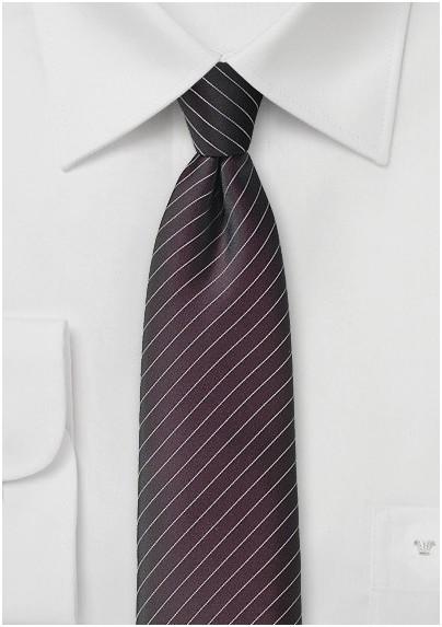 Espresso Brown Pin Striped Tie