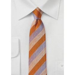 Summer Tie in Orange and Lavender
