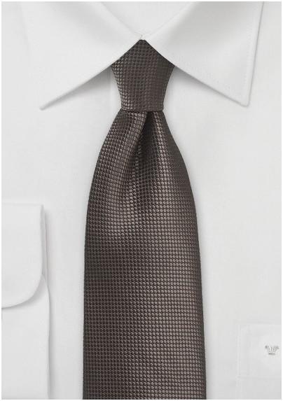 XL Tie in Chestnut Brown