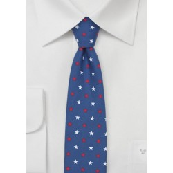 Skinny Necktie with Stars