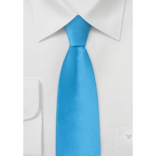 Skinny Tie in Cyan Blue