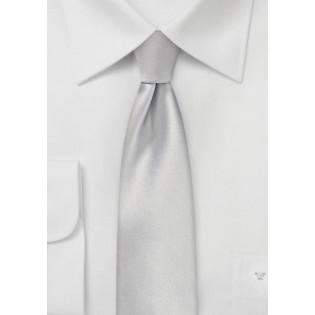 Light Platinum Silver Skinny Tie