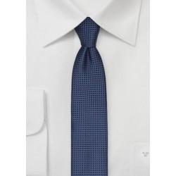 Micro Check Skinny Tie in Blue