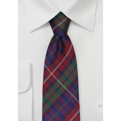 Modern Tartan Plaid Tie in Red, Blue, Green