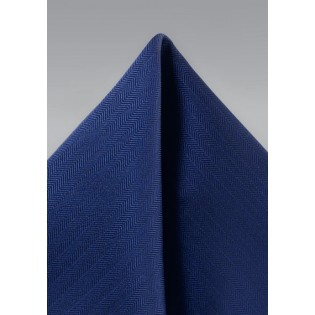 Textured Hanky in Royal Navy