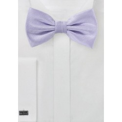 Light Lavender Herringbone Bow Tie