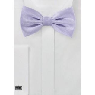 Light Lavender Herringbone Bow Tie