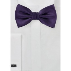 Royal Purple Herringbone Bowtie