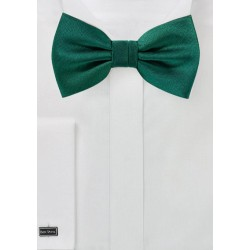 Matte Woven Bowtie in Hunter Green