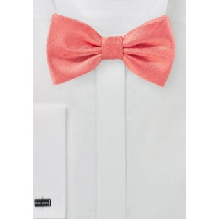 Summer Bow Tie in Neon Coral