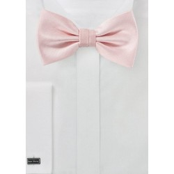 Peach Blush Herringbone Bowtie