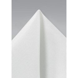 Formal Ivory Pocket Square