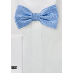 Sky Blue Textured Mens Tie