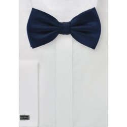 Matte Bow Tie in Dark Navy