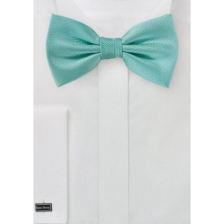 Matte Texture Bowtie in Mermaid
