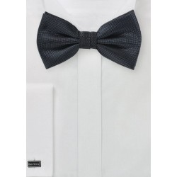 Dark Charcoal Matte Finish Bow Tie