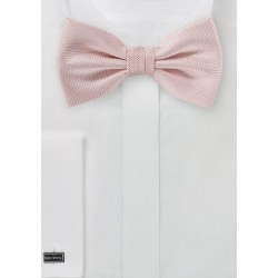Textured Bow Tie in Peach Blush