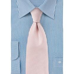 Microtexture Tie in Peach Blush
