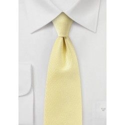 Pastel Yellow Textured Tie