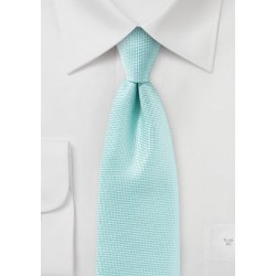 Textured Tie in Pool Blue