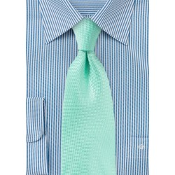 Textured Tie in Beach Glass