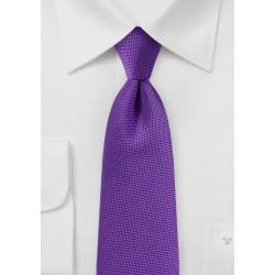 Rich Violet Purple Textured Tie