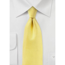 Sun Yellow Matte Woven Tie