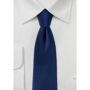 Slim Cut Tie in Classic Navy