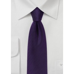 Slim Cut Grape Color Tie
