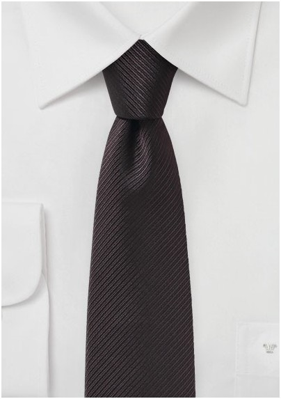 Dark Brown Slim Cut Necktie