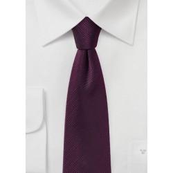 Wine Red Skinny Tie