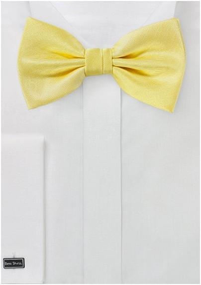 Herringbone Texture Bowtie in Sun Yellow