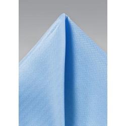 Sky Blue Texture Pocket Square