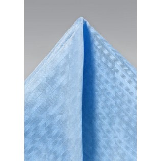 Sky Blue Texture Pocket Square