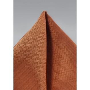 Texture Hanky in Burnt Orange