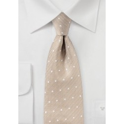 Sand Colored Polka Dot Tie