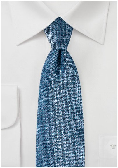 Blue and Aqua Textured Designer Tie