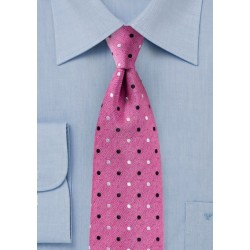 Fun Polka Dot Tie Very Berry Pink